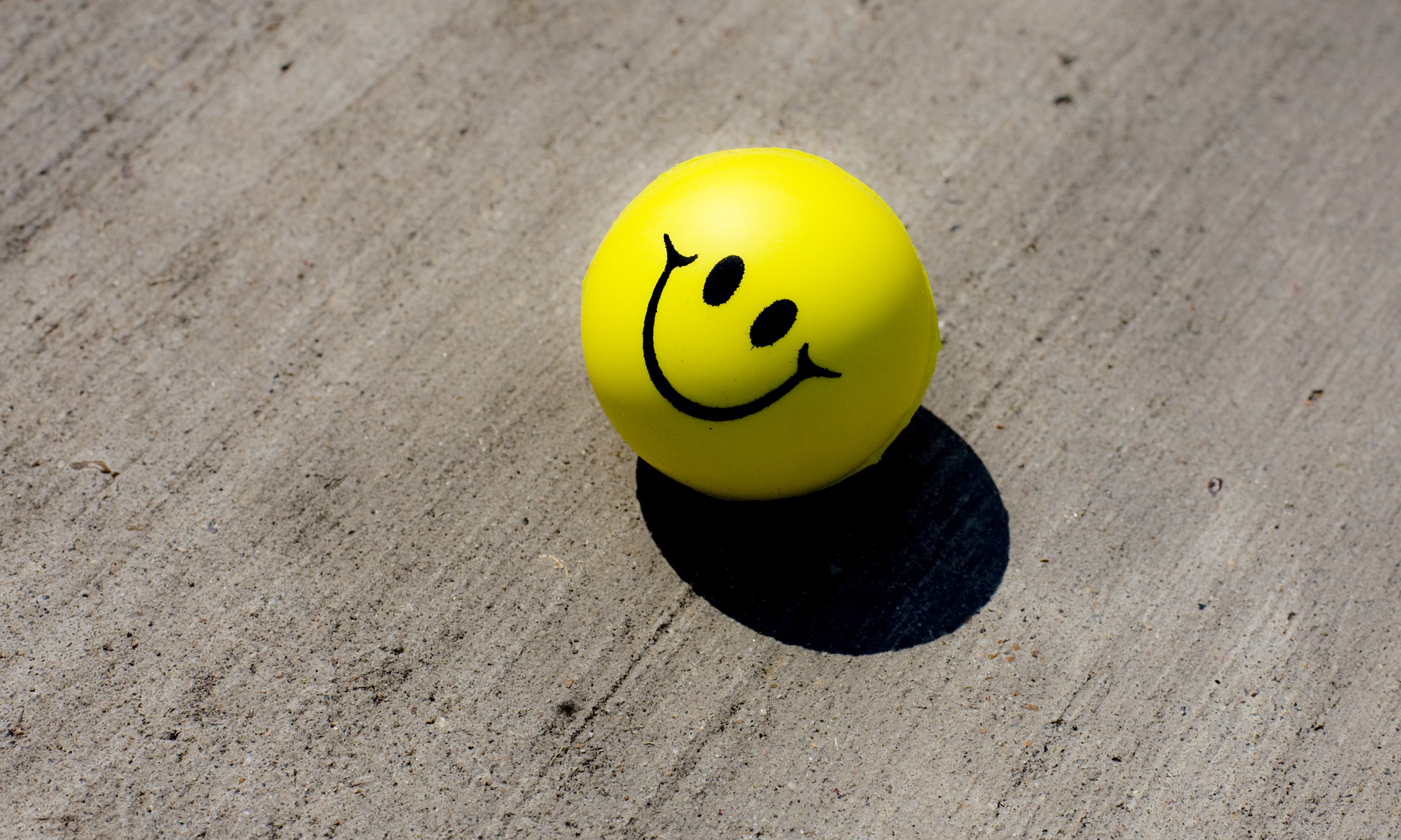 smiley face ball relax zen art