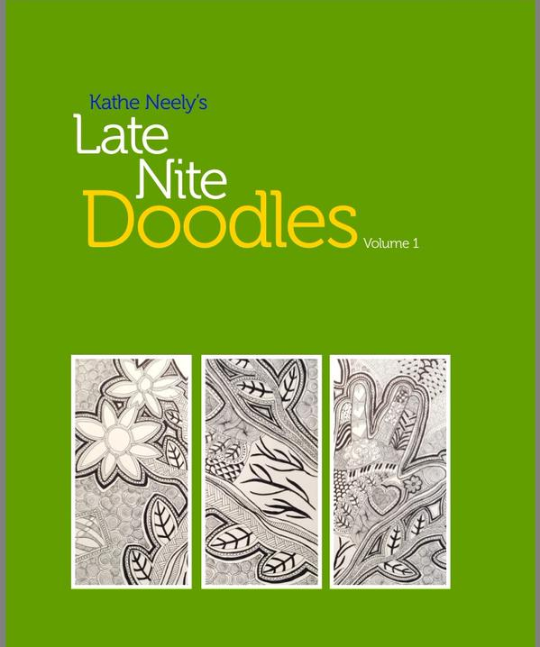 Kathe Neely Late Night Doodles adult coloring grownup coloring book
