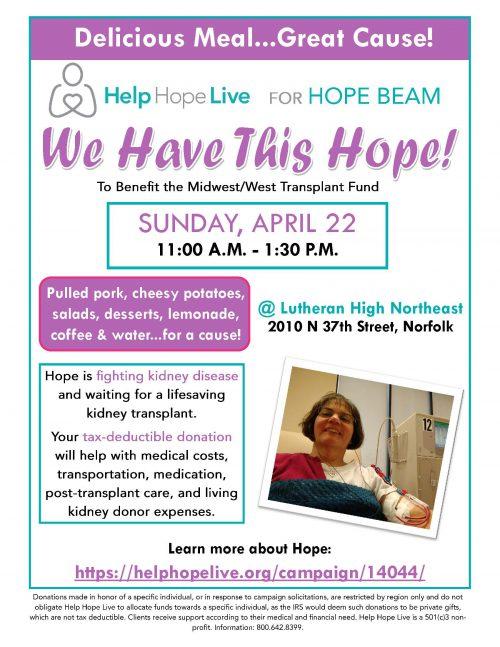 Hope Beam Help Hope Live