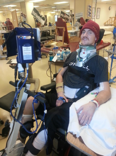 Young man who sustained spinal cord injury diving into shallow water