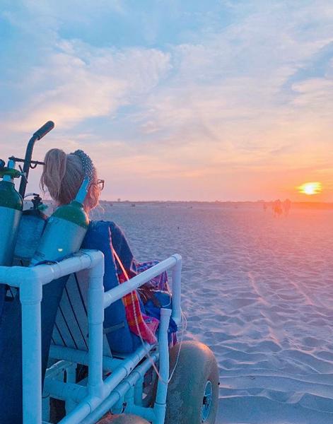 Annie McMahon sunset Rockaway Beach last trip 2019