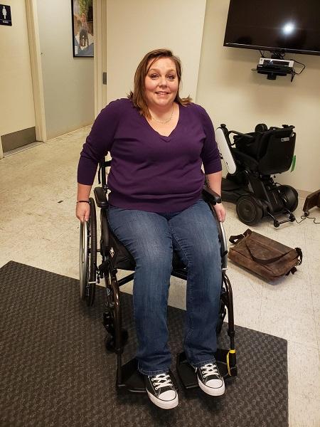 woman with chronic illness wheelchair